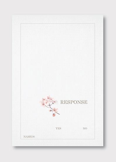 Blossom Response Card
