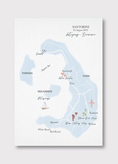 Santorini Wedding Map