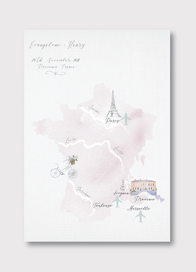 Provence Wedding Map