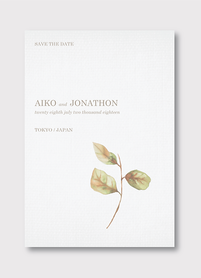 Blossom Save the Date Card