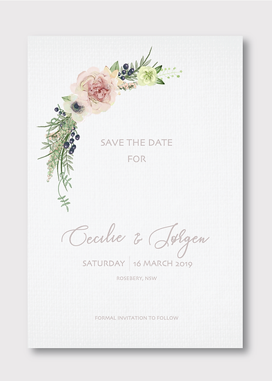 Floriat Save the Date Card