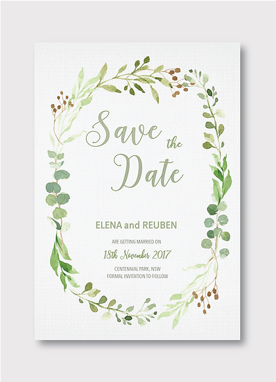 Botánica Save the Date Card