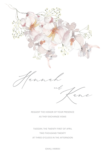 Extra Invitation sets for Hannah Rose
