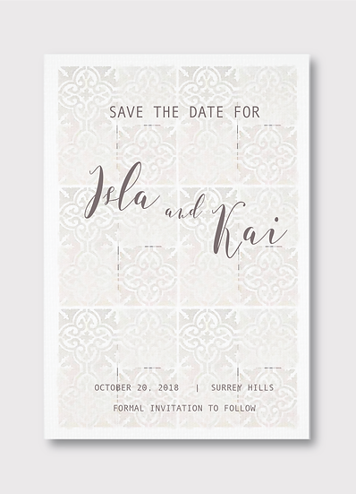 Bohème Save the Date Card