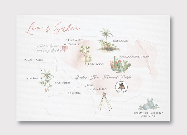 Joshua Tree Wedding Map