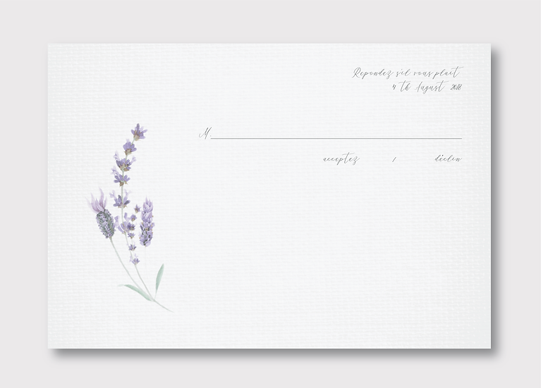 Provence Response Card