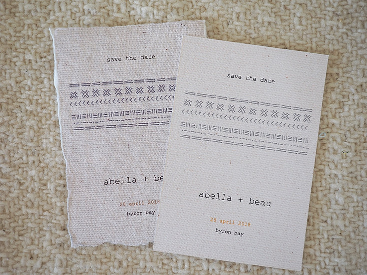 Tribû Save the Date Card