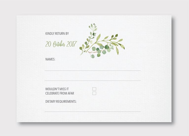 Botánica Response Card