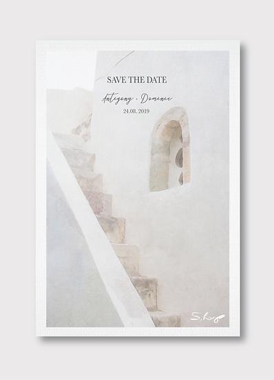 Santorini Save the Date Card