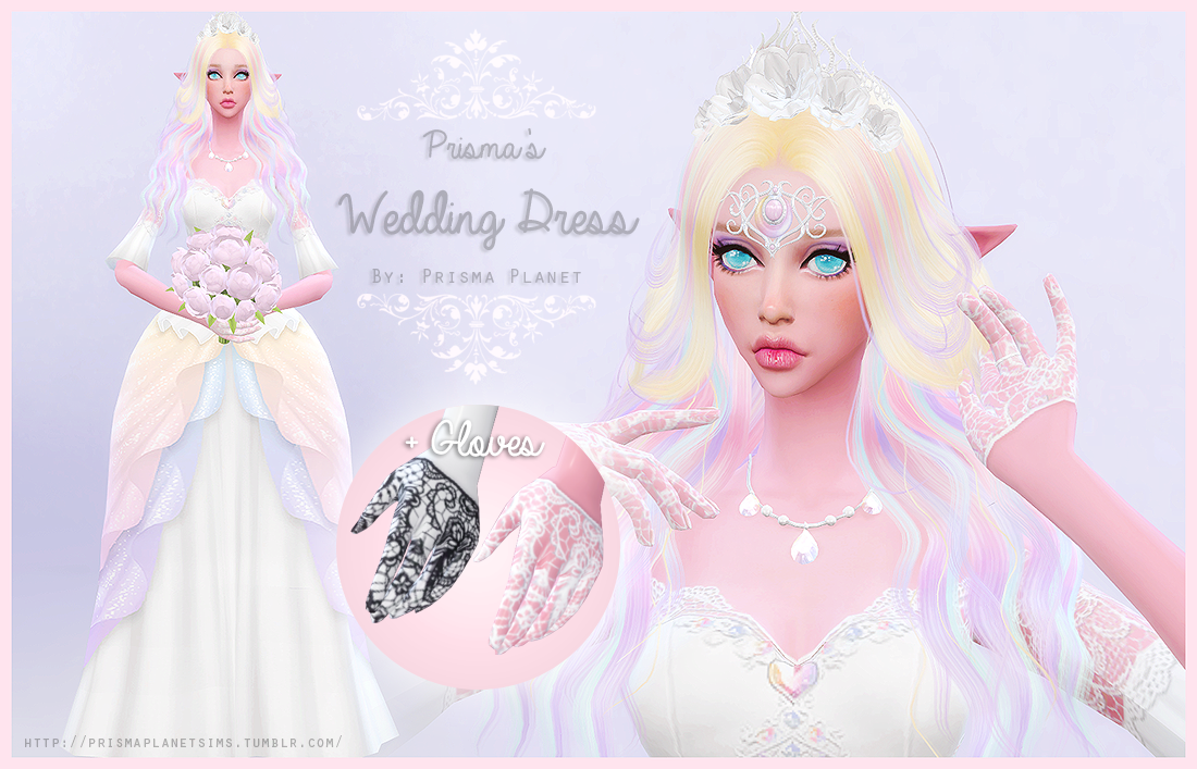 Sims 4 Wedding Dress.Prisma S Wedding Dress Gloves