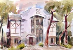 Дом Сказочника в акварели