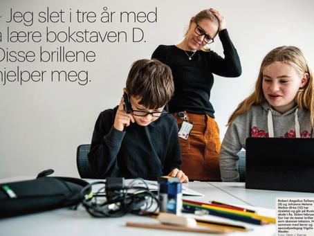 Aftenposten: Jeg slet i tre år med å lære bokstaven D. Disse brillene hjelper meg.