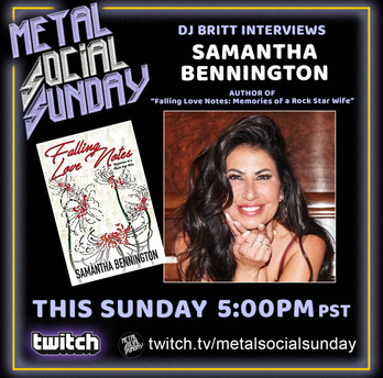 """#41 Samantha Bennington author of""""Falling Love Notes : Memories of a Rock Star Wife"""" on MSS"""