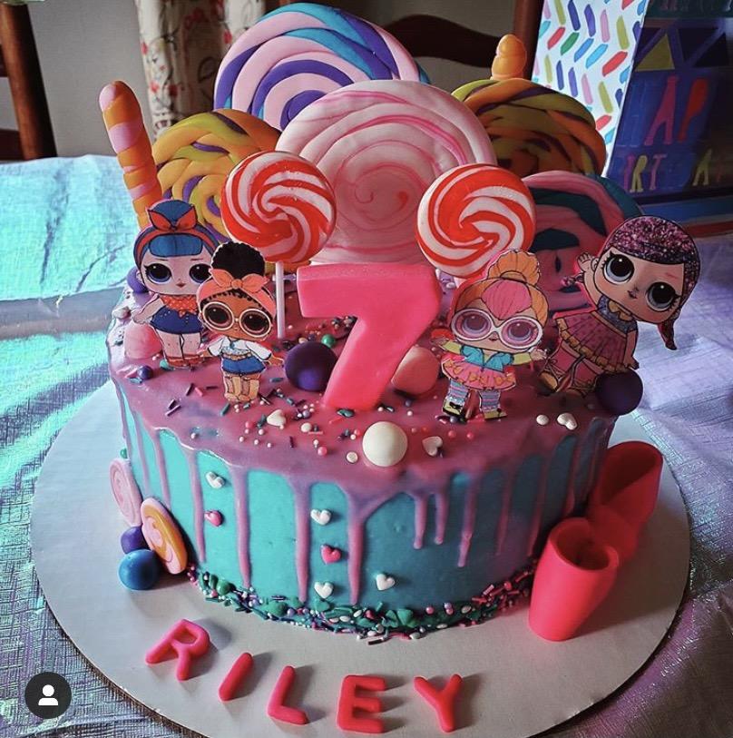 LOL Candy Swirl Cake