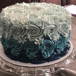 #gradientcake blue and teal ombré effect