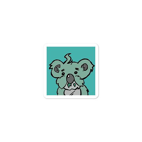 Tiny Koala Sticker 3x3 Vinyl Sticker