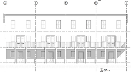 Townhouse north elevation