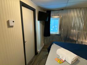 TV and bathroom door