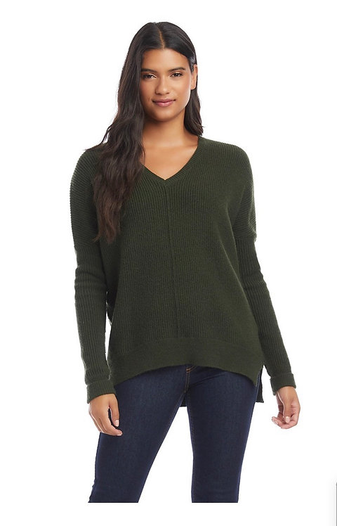 Karen Kane Olive Hi-Low Sweater