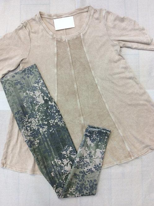 Tan Short Sleeve, Soft Cotton Top