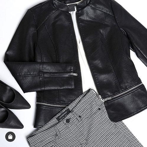 2 in 1 Zip-Off Moto Jacket