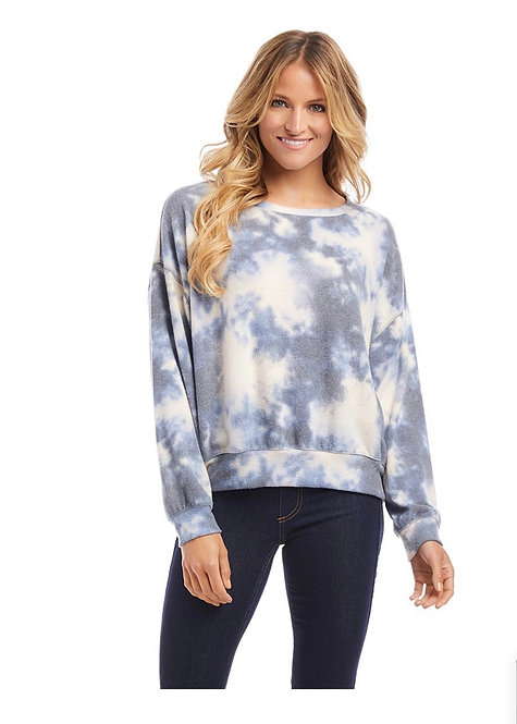 Cool Toned Tye Die Long Sleeve Shirt