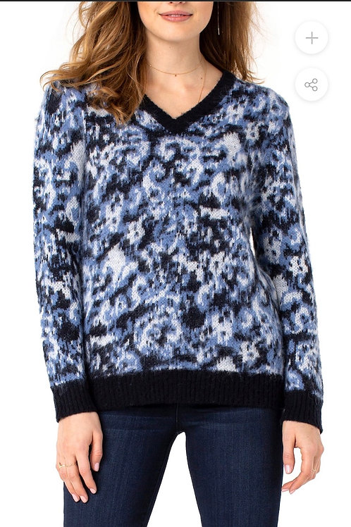 Liverpool Abstract Blue Sweater