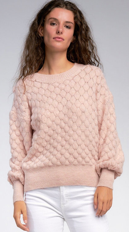 Pink Scallop Sweater