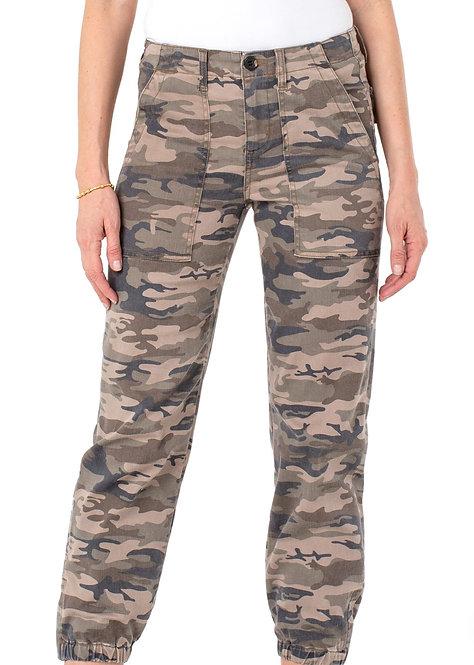 Liverpool Camo Crop Cargo Pants