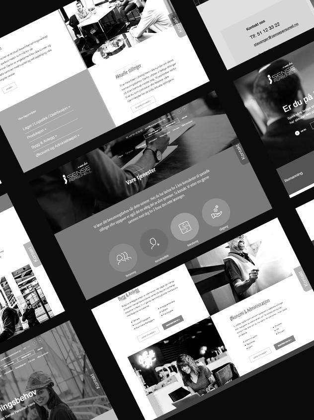 — Redesign av eksisterende webløsning for Sense Personell ved oppstart av nytt kontor i Bargen.