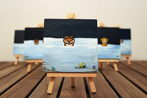 Winter Dog Breed Mini Canvas - pick your own