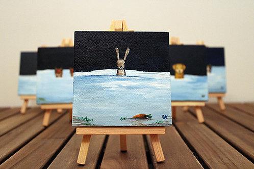 Winter Hare Mini Canvas