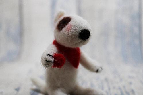 'Boston' OOAK Needle felted English Bull Terrier