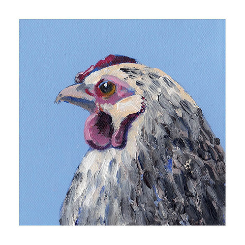 Hen prints - Olive (other hen option available)