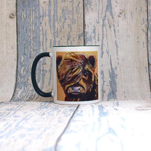 Highland calf 'Baby Coo' tea and coffee mug