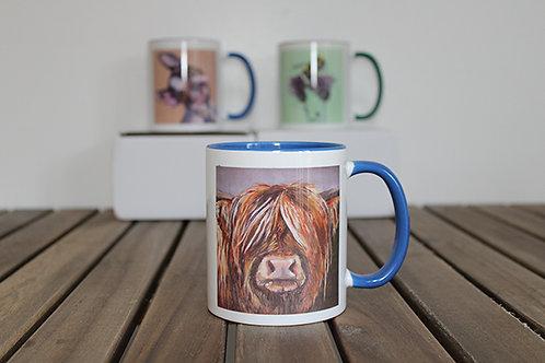 'Hazel' Highland Cow Mug