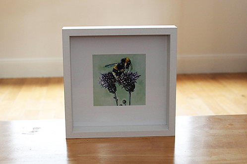 Bertie small framed print