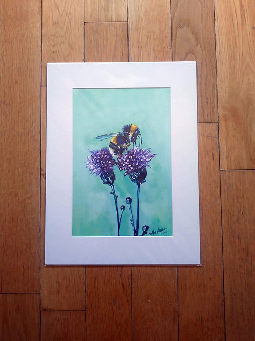 Bertie - Bee and Thistle A3 Digital Print