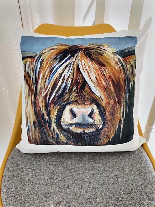 Hazel the Highland Cow Cushion