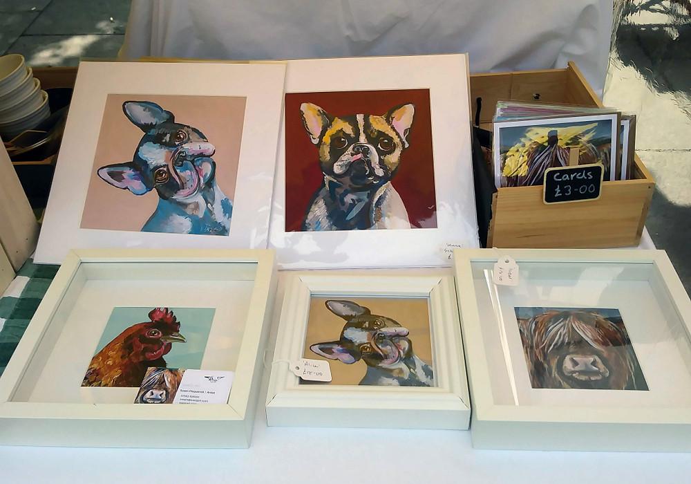 Market stall prints