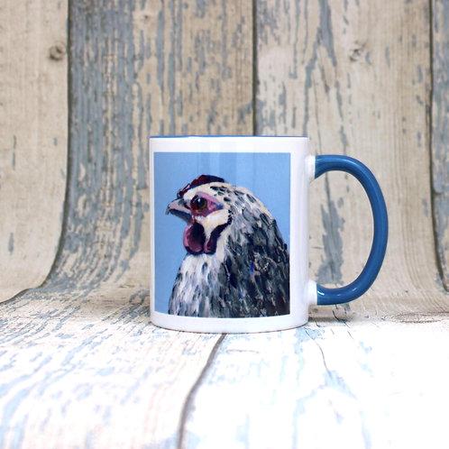 Chicken, hens tea and coffee mug