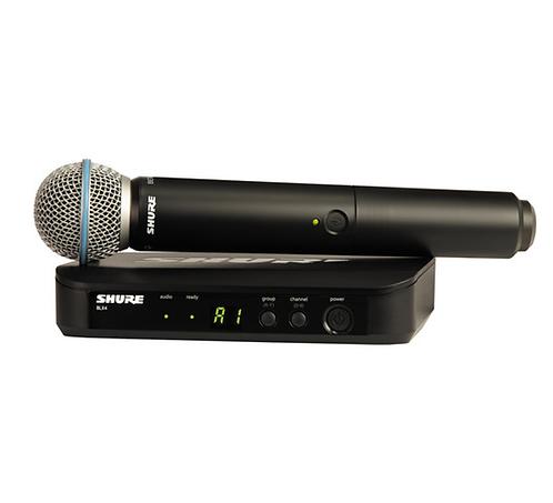 Micrófono Dinámico Inalambrico de mano Shure BLX24/B58/J10
