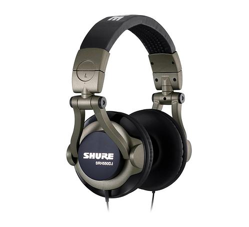 Audífono para DJ  Shure SRH 550DJ