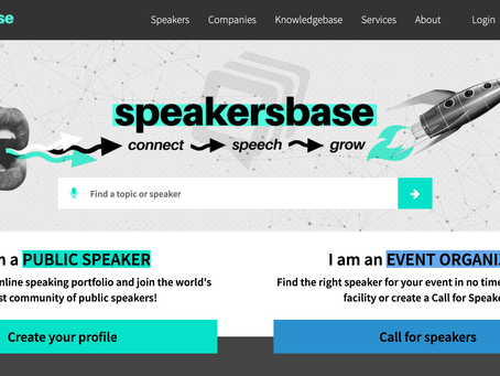 Message to our speakers with a profile on the previous site