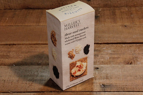 Millers Harvest Three seed Crackers 125g