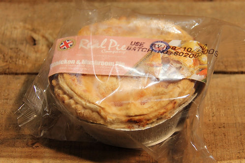 Real Pie Co. Chicken and Mushroom Pie (small)