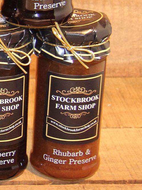 Stockbrook Farm Shop Rhubarb & Ginger 340g