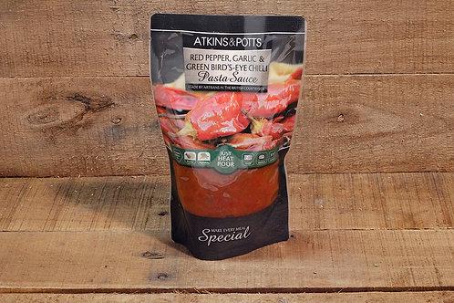 Atkins & Potts Red pepper, garlic chilli sauce 350g