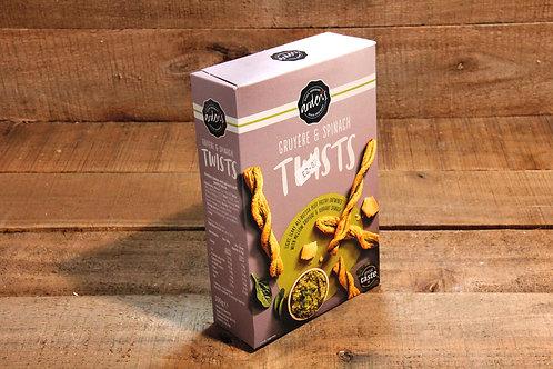 Ardens Gruyere & Spinach Twists 100g