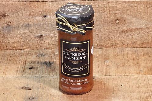 Stockbrook Farm Shop Sweet Apple Chutney with Cider 280g
